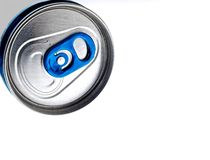 Abstract Aluminum Can Background Design Stock Photo
