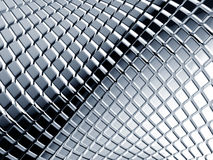 Abstract aluminum square background. 3d illustration Stock Photography