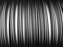 Abstract aluminum stripe pattern background. 3d illustration Stock Photo