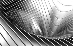 Abstract aluminum wave pattern. Background 3d illustration Royalty Free Stock Photography