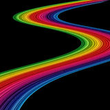 Abstract amazing rainbow. With black background Royalty Free Stock Photography