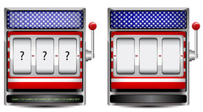 Abstract america slot machine. Isolated on white background vector illustration