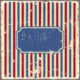Abstract american background striped ripped paper Royalty Free Stock Photography