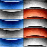 Abstract American background - waves decoration - USA Colors - w. Ood surface Stock Illustration