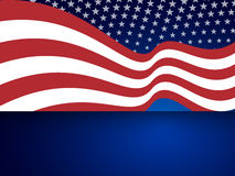 Abstract american background with waving striped flag and starry pattern. Royalty Free Stock Photo