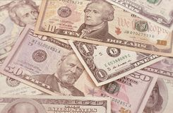 Abstract american dollars background or texture money. Stock Photography