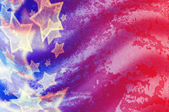 Abstract American flag. In grunge style Stock Illustration
