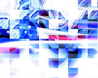 Abstract american flag. With cubic features Royalty Free Stock Photos