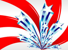 Abstract american flag. Fantasy design for the american flag Stock Image