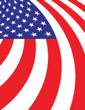 Abstract American Flag Background Illustration. A curving and waving abstract American flag background illustration. Vector EPS 10 available Stock Photography