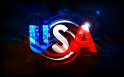 Abstract American Flag Background Royalty Free Stock Photo