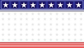 Abstract American flag banner background. Abstract American flag banner background with copy space for your text and design stock illustration
