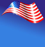 Abstract American flag on blue background Stock Photography