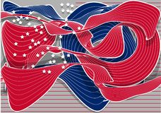Abstract american flag Royalty Free Stock Photography