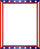 Abstract American flag frame. USA flag frame on white background with copy space for your text and images Stock Image