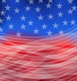 Abstract American Flag for happy 4th of july Stock Image