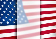 American flag .Symbol of America .Background. Abstract American Flag, illustration ,vector Stock Images