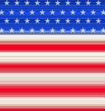 Abstract American Flag for Independence Day Royalty Free Stock Image