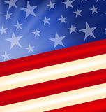 Abstract American Flag for Independence Day Royalty Free Stock Photos