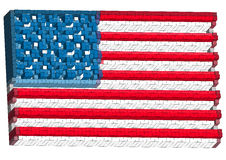 Abstract american flag Stock Photo