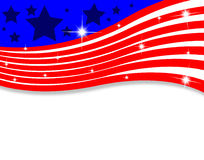 Abstract American flag with lines Royalty Free Stock Photo