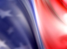 Abstract American flag. Soft focused, abstract view of American flag Stock Photo