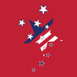 Abstract american flag stars. Stylized background vector illustration royalty free illustration