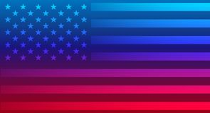Abstract American flag vector background. Red and blue colors Stock Image