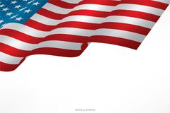 Abstract American flag on white background with area for copy space. Abstract American flag on white background with area for copy space, graphic design and royalty free illustration