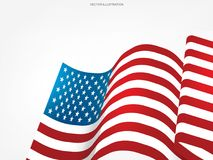Abstract American flag on white background with area for copy space. Abstract American flag on white background with area for copy space, graphic design and stock illustration