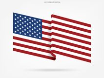 Abstract American flag on white background. Vector. Abstract American flag on white background. Vector illustration vector illustration