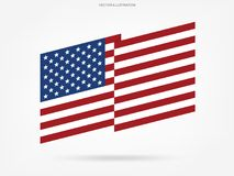 Abstract American flag on white background. Vector. Abstract American flag on white background. Vector illustration stock illustration