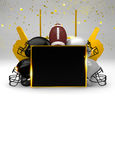 Abstract american football background Royalty Free Stock Images
