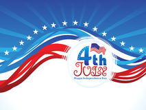 Abstract american indepedence day wave Stock Images