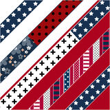 Abstract american patchwork pattern. With stars and stripes stock illustration