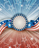 Abstract american patriotic background with banner Stock Photos