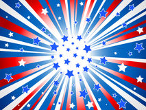 Abstract American stars background Stock Photography