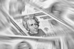 Abstract Amerikaans dollarsachtergrond of textuurgeld Stock Afbeeldingen