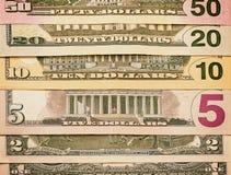 Abstract Amerikaans dollarsachtergrond of textuurgeld Royalty-vrije Stock Fotografie
