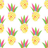 Abstract ananas patch vector pattern. Stock Image