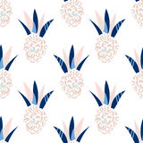 Abstract ananas patch vector pattern. Royalty Free Stock Photos