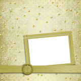 Abstract ancient background. In scrapbooking style with gold ornament stock illustration