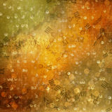 Abstract ancient background. In scrapbooking style with gold ornamentat stock illustration