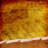 Abstract ancient background with letters and notes Stock Image