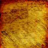 Abstract ancient background with notes Stock Image