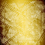 Abstract ancient background in scrapbooking style. With gold ornamentat stock illustration