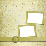 Abstract ancient background in scrapbooking style. With gold ornament vector illustration