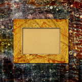 Abstract ancient background in scrapbooking style. With chaotic ornamental and paper frame stock illustration