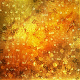 Abstract ancient background in scrapbooking style. With gold ornamentat royalty free illustration