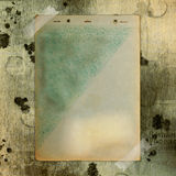 Abstract ancient brown background. With set old paper in scrap booking style royalty free illustration